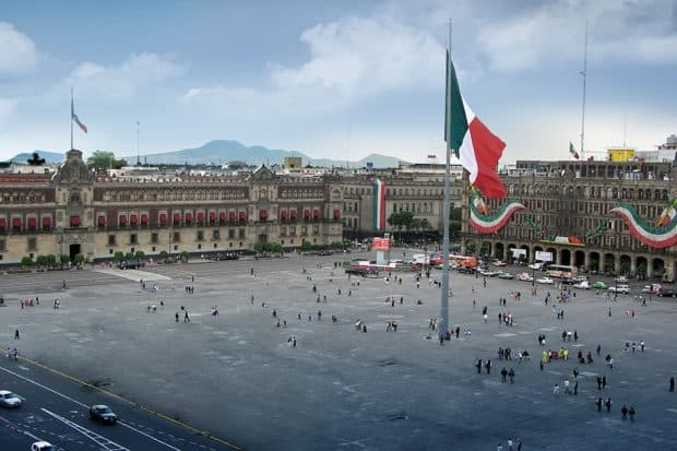 Aerial View-Zocalo ,Mexico City, Mexico-Courtesy Journey Mexico