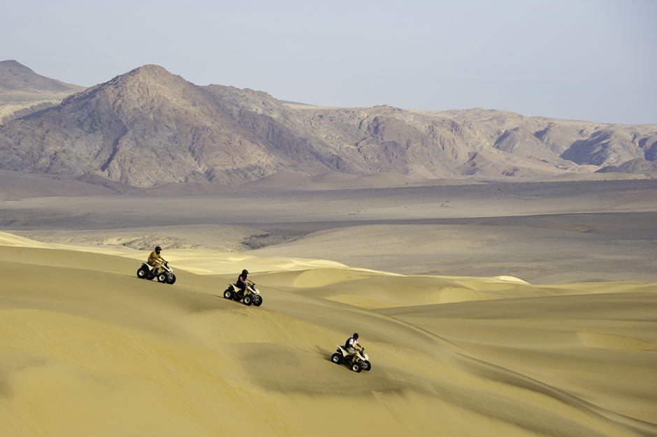Quad-Biking in Sand Dunes