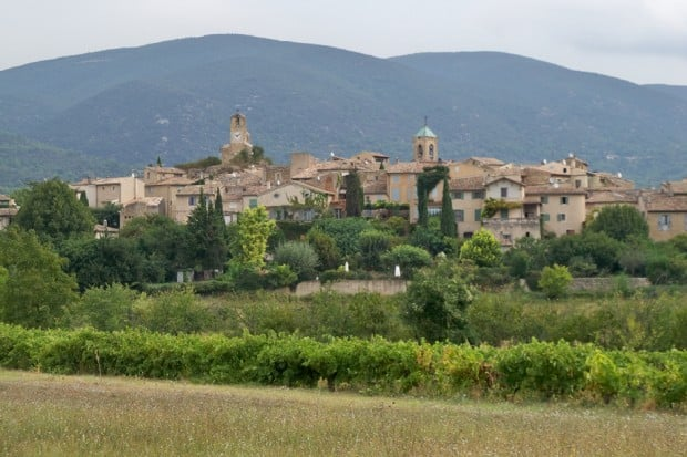 Aerial View-Lourmarin ,Provence, France-Courtesy Véronique Pagnier