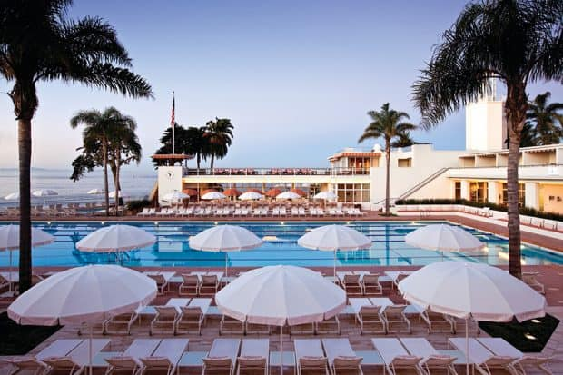 Pool at The Coral Casino in Santa Barbara California