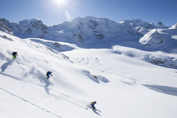 Skiing in the Engadin Valley, Courtesy Switzerland Tourisme, Photo by Andrea Badrutt