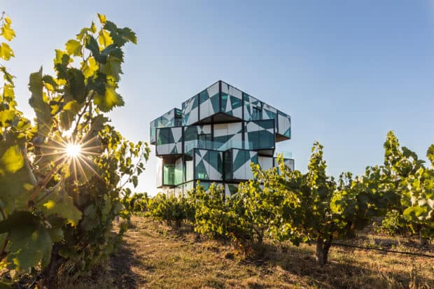 The Cube at d'Arenberg was designed in 2003 and features a wine sensory room as well as rotating art installations. Photo courtesy d'Arenberg.