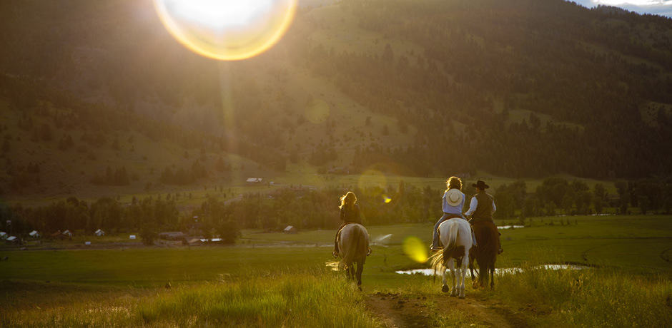 Horseback riding at the Ranch at Rock Creek, Montana.