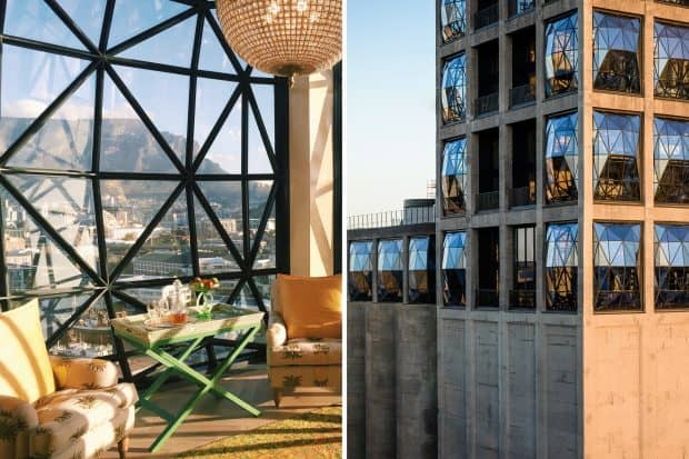 Silo Hotel interior and exterior in Cape Town South Africa