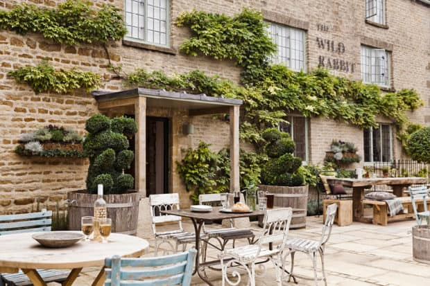 The restaurant at The Wild Rabbit in the Cotswolds, England. Photo courtesy The Wild Rabbit.
