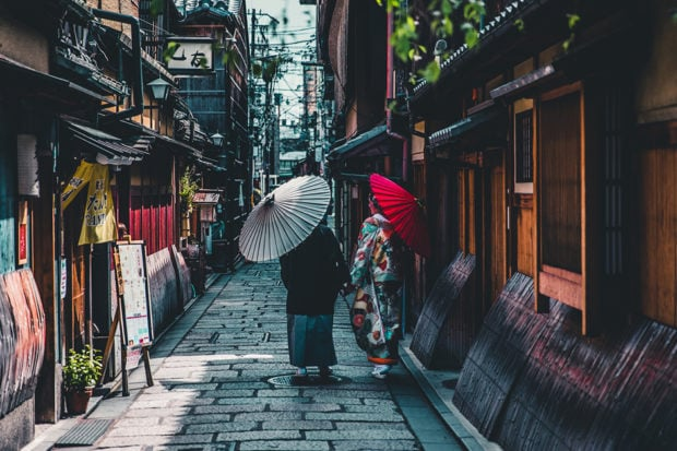 Strolling the historic streets of Tokyo