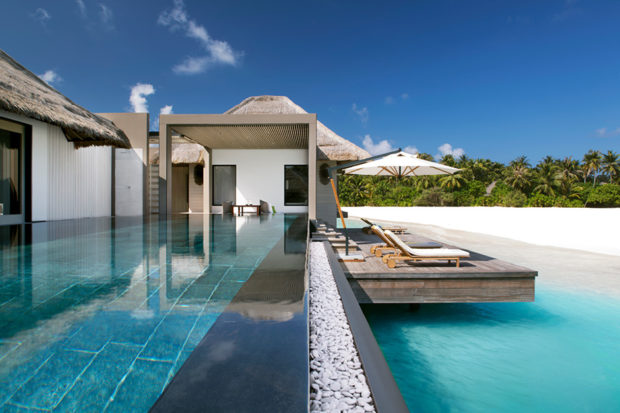 A garden villa at Cheval Blanc Randheli, Maldives.