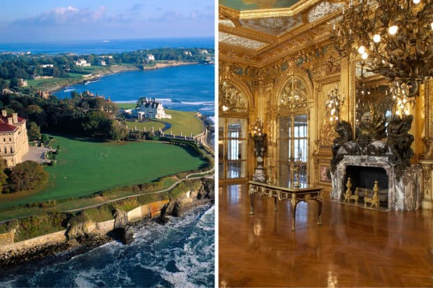 The Cliff Walk, courtesy Onne van der Wal; The Marble House, courtesy the Preservation Society, John Corbett