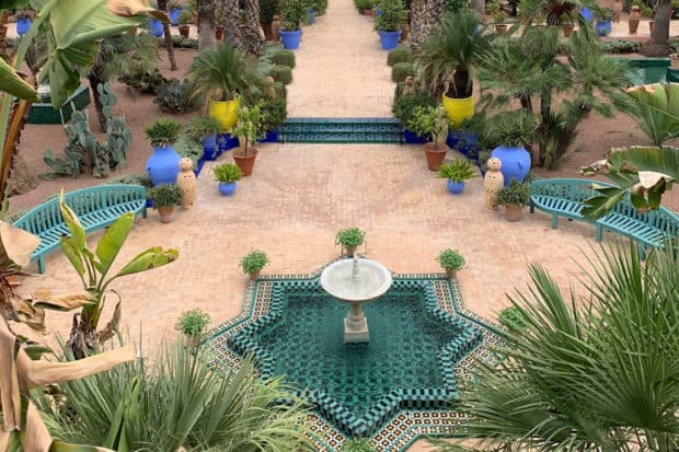 A view of the gardens at the Villa Oasis in Marrakech, which will be exclusively available to visit for participants on the Insider Journeys to Marrakech in 2019.