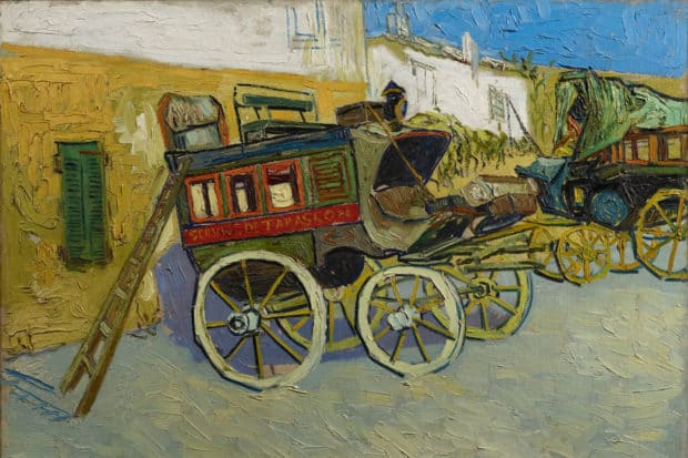 Vincent van Gogh, Tarascon Stagecoach, 1888, oil on canvas, the Henry and Rose Pearlman Foundation on long term loan to the Princeton University Art Museum.