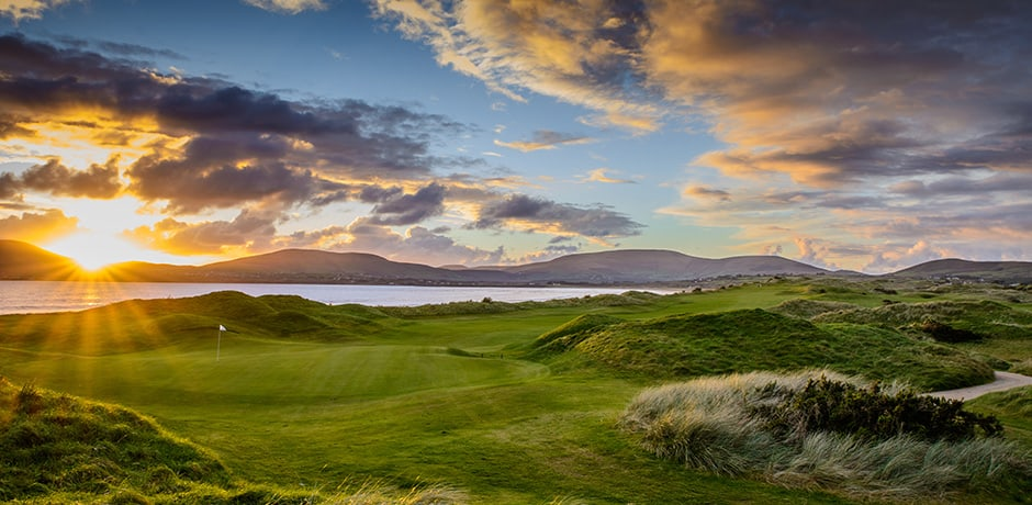 The 18th Hole at Waterville Golf Club, facing O'Grady's Beach. Courtesy Waterville Golf Club
