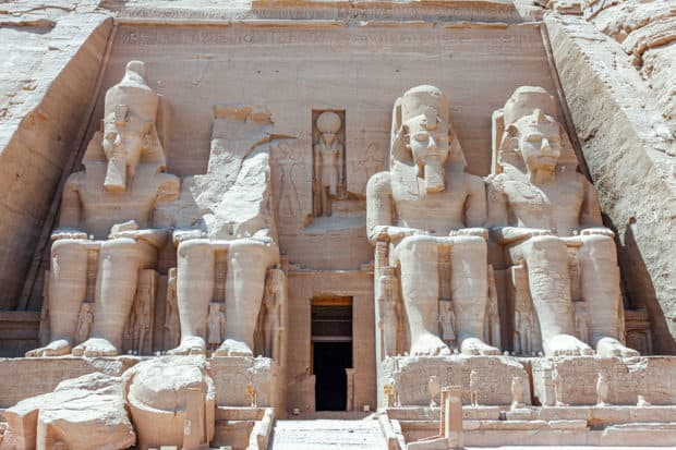 Abu Simbel in Southern Egypt