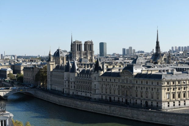 The view from Cheval Blanc Paris. Courtesy V. Mati.
