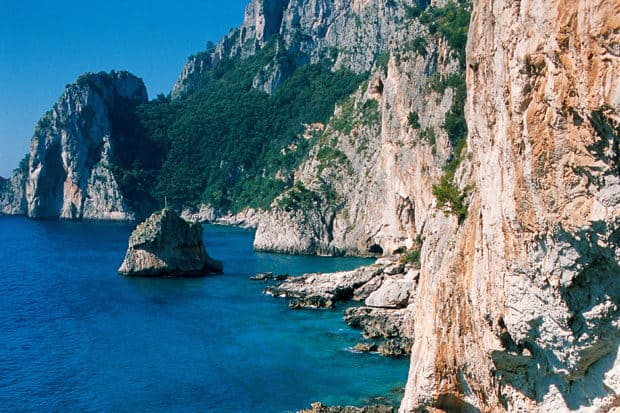 Capri coast, courtesy Capri Tourism Board
