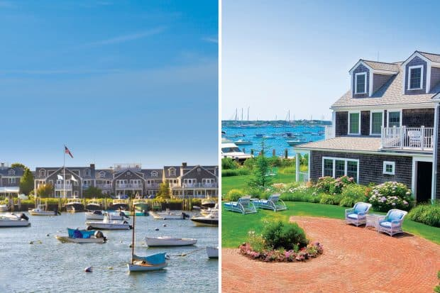 White Elephant hotel waterfront and grounds in Nantucket