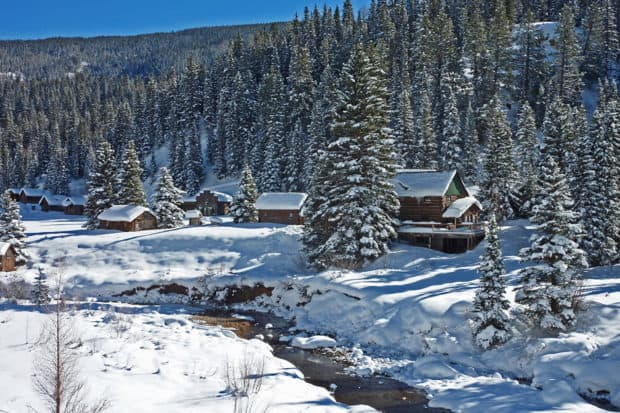 Serene views at Dunton Hot Springs, Colorado. Courtesy Dunton Hot Springs