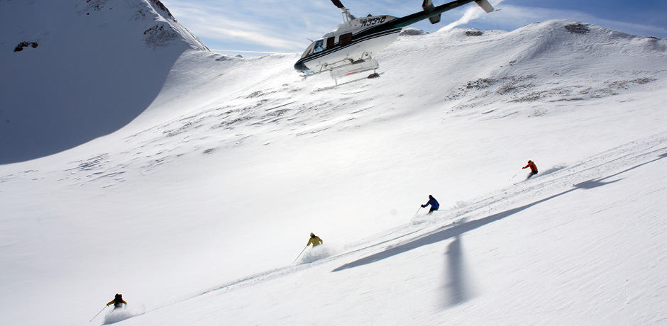 Heli skiing at Dunton Hot Springs, Colorado. Courtesy Dunton Hot Springs