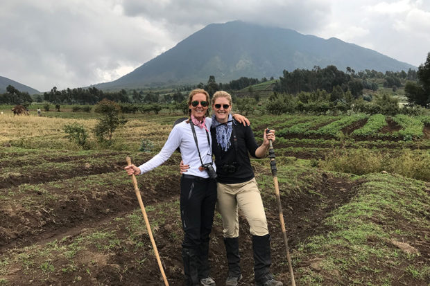 Mary and Katie Solomon, who traveled together on Indagare's Rwanda Insider Journey in 2017