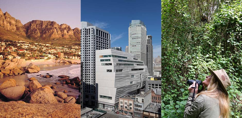 From left: Cape Town, Courtesy John Hrusa; SFMOMA, Courtesy Henrik Kam; Melissa in Rwanda