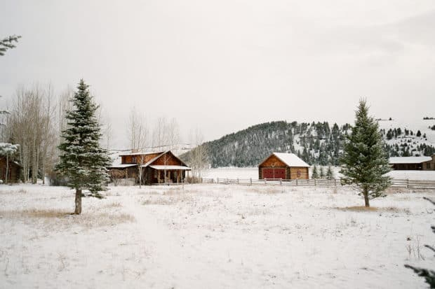 Fresh snow at the Ranch at Rock Creek. Courtesy the Ranch at Rock Creek