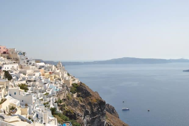 Fira in Santorini Greece