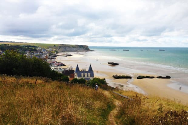 The beach in Normandy, France, the site of the Allied invasion during World War II; Courtesy Indagare